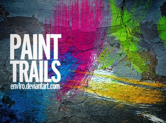 7 가지 페인트(Paint Trails) 포토샵 브러쉬 - 7 Free Paint Trails Photoshop Brushes