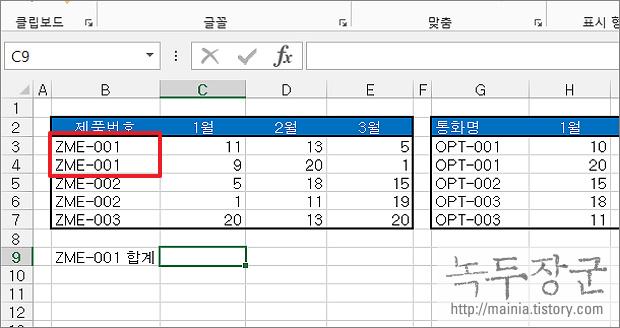 엑셀 Excel 일반 함수에 접미사로 붙은 ~IF 와 ~IFS 함수 SUMIF, COUNTIF 알아보기