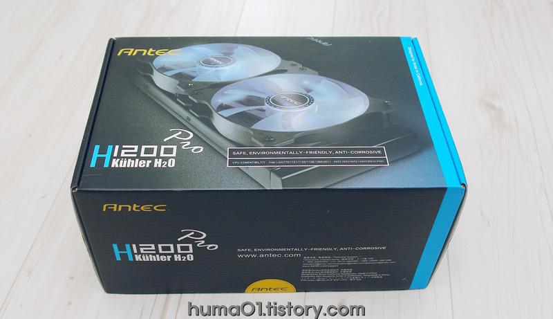 모던한 디자인으로 돌아 온~ ANTEC H20 H1200PRO 일체형 수냉 CPU쿨러