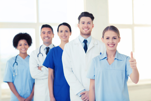 Free Stock Photo JPG file Group of happy doctors at hospital Stock Photo 08
