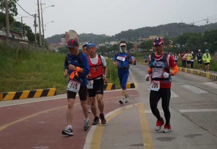 울트라마라톤 참가자들