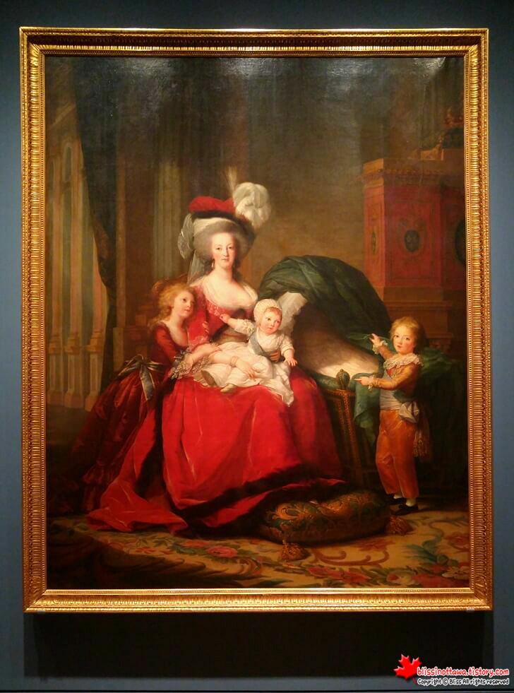 프랑스 여왕 마리 앙투아네트와 아이들