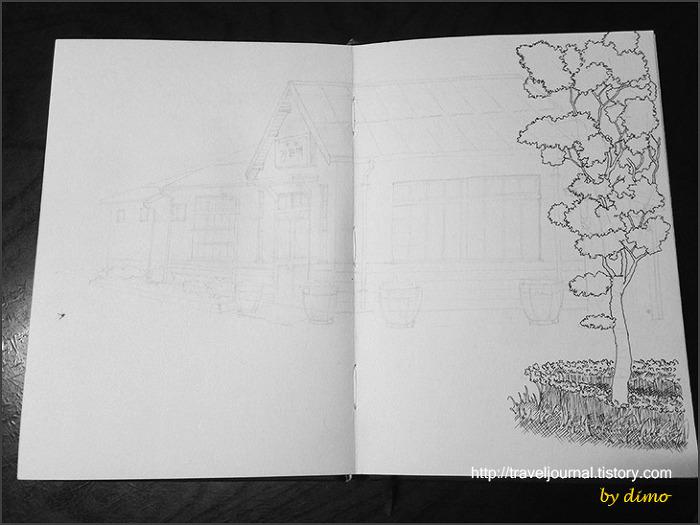 가은역 스케치 과정