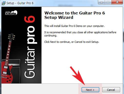 기타악보 편집 재생 프로그램 Guitar Pro 체험판 사용방법