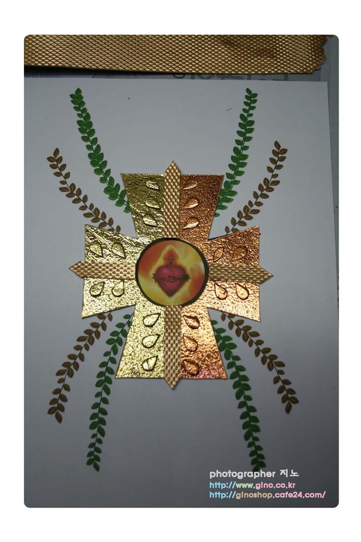 부활 빠스카 금박 동박 십자가 디자인