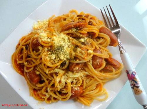 토마토 스파게티 만들기
