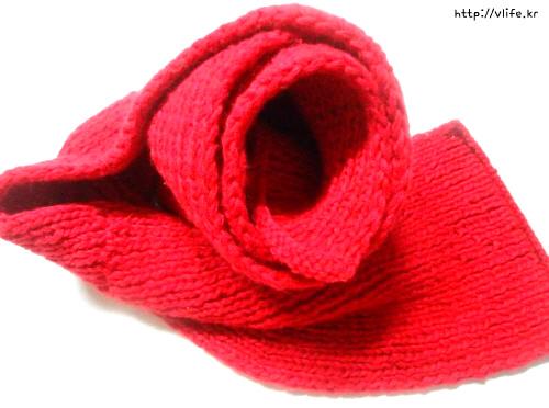 목도리 뜨개질