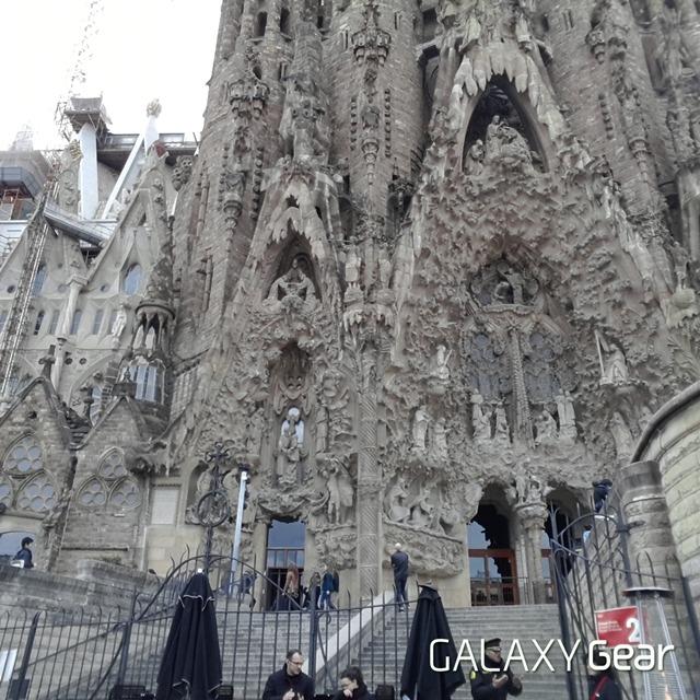 가우디, 갤럭시 기어, 갤럭시 기어 사진, 갤럭시 기어 카메라, 바르셀로나, 바르셀로나 대성당, 사그라다 파밀리아 성당, 스페인