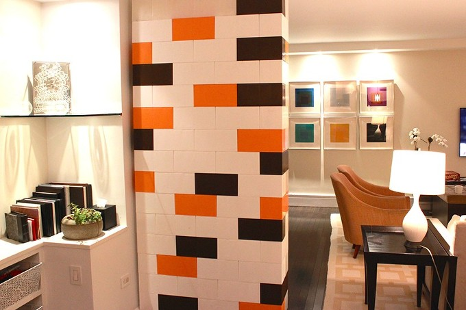 레고블록 공간을 위햔 파티션 Everblock Modular Bricks Offer Endless