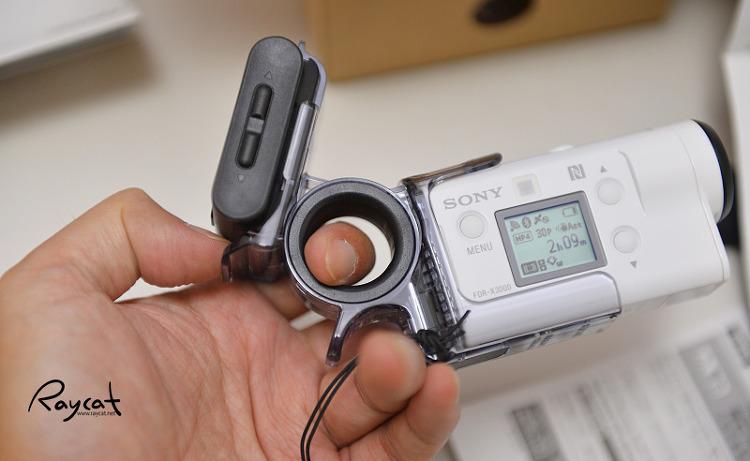 소니 액션캠 FDR-X3000 액션캠과 라이브뷰 장착
