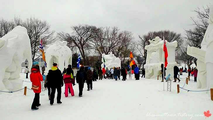 캐나다 윈터루드 겨울 대축제입니다