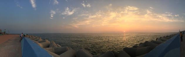 아이폰6 파노라마로 서해바다 촬영한 모습