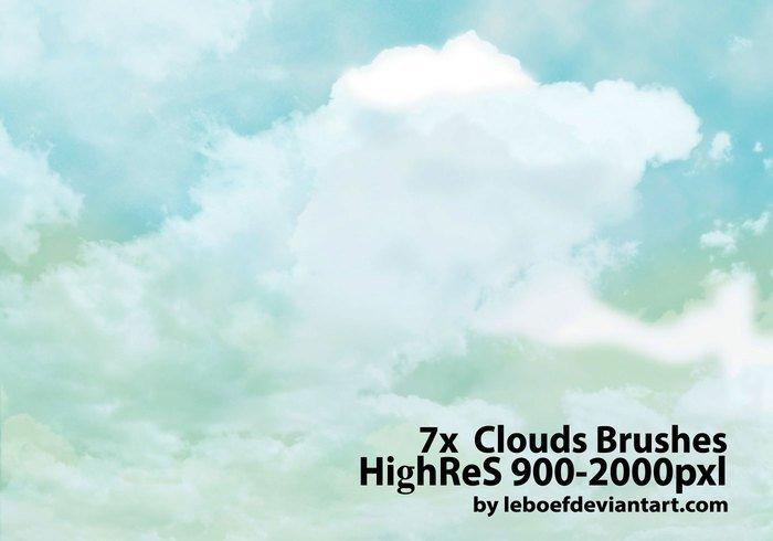 7 가지 구름(clouds) 포토샵 브러쉬 - 7 Free Clouds Photoshop Brushes