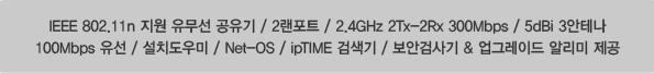 ipTIME N702BCM 제품 사양