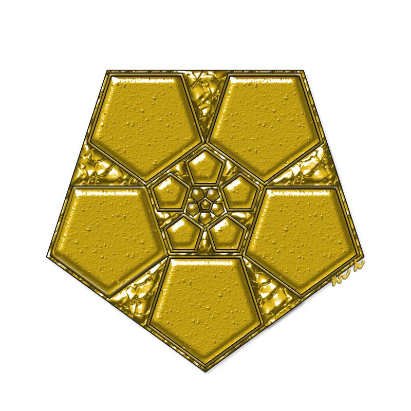 황금오망성 만다라 Mandala(히란야) 문양(114)