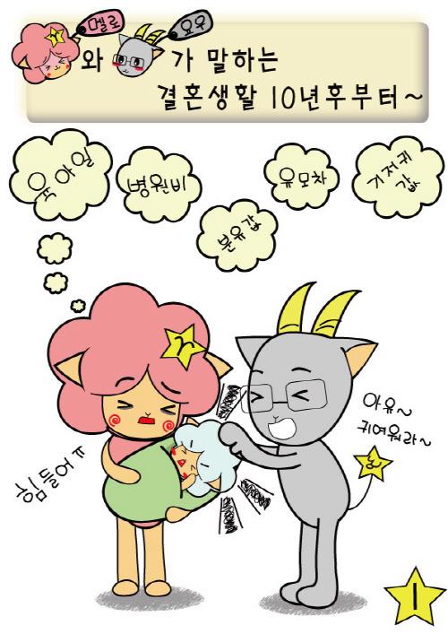 [웹툰] 결혼생활 10년 후부터, 알콩달콩 그림일기