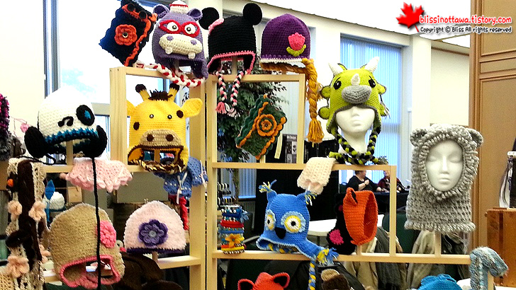 캐나다 수제품 시장 ; 동물 캐릭터 털 모자