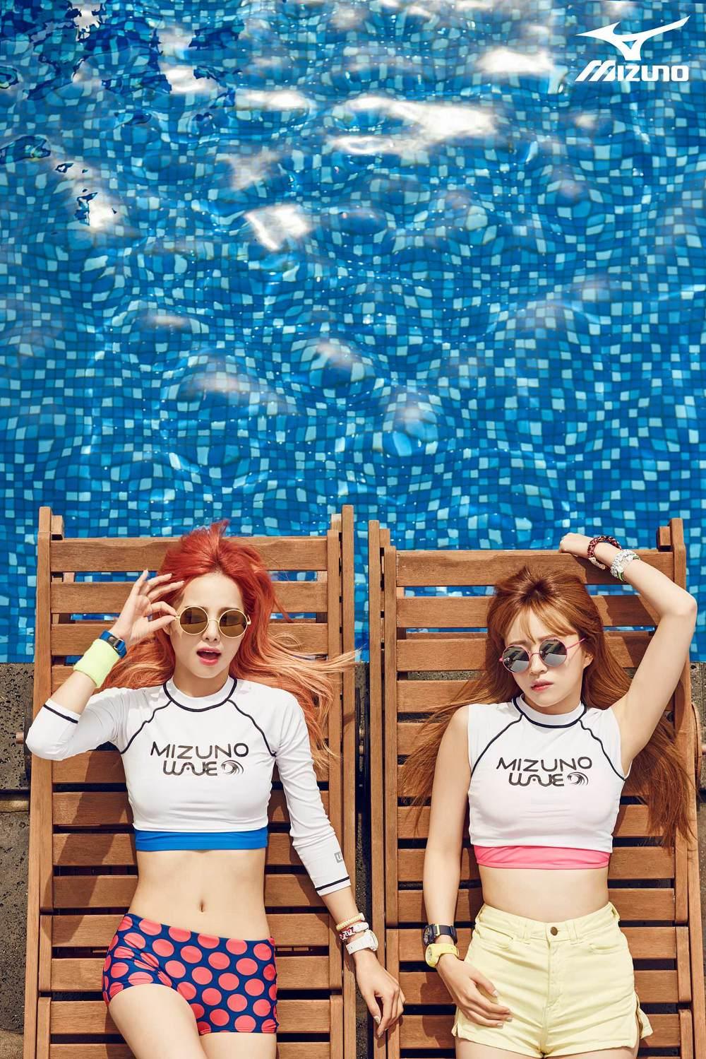 MIZUNO x EXID in Hot Summer