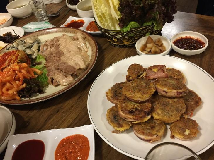 연산동 디딤돌 굴보쌈 오징어순대 후기 부산 연산동 맛집