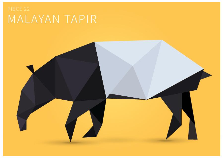 Piece 22 Malayan tapir