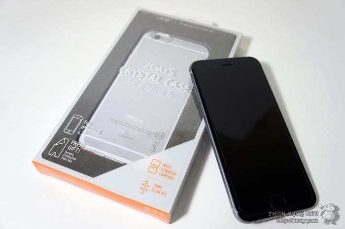 랩씨 7데이즈 크리스탈 케이스, 깔끔한 아이폰6 투명케이스