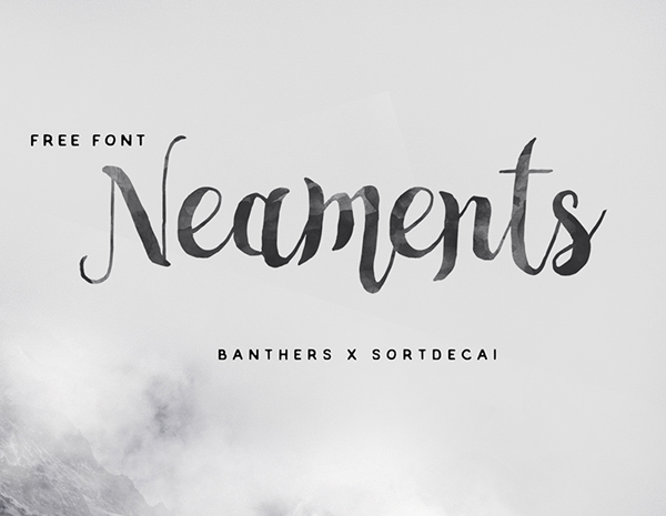 Neaments – Free Brush Font
