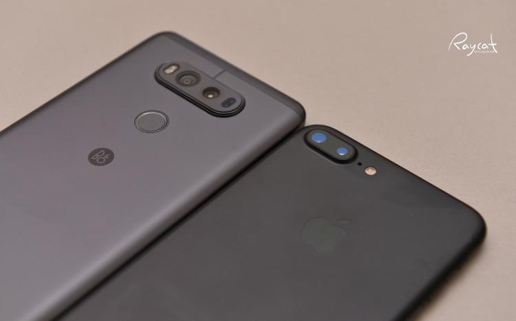 아이폰7 플러스와 LG V20 티탄블랙