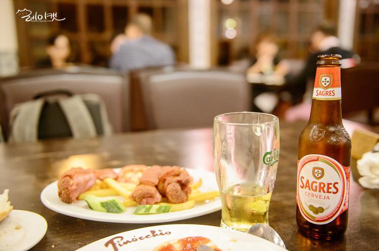포르투갈 맥주와 함께 매캐니즈 요리