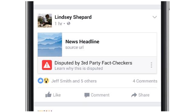 페이스북이 조작된 가짜 뉴스를 멈출 실제 기능을 내놓았습니다