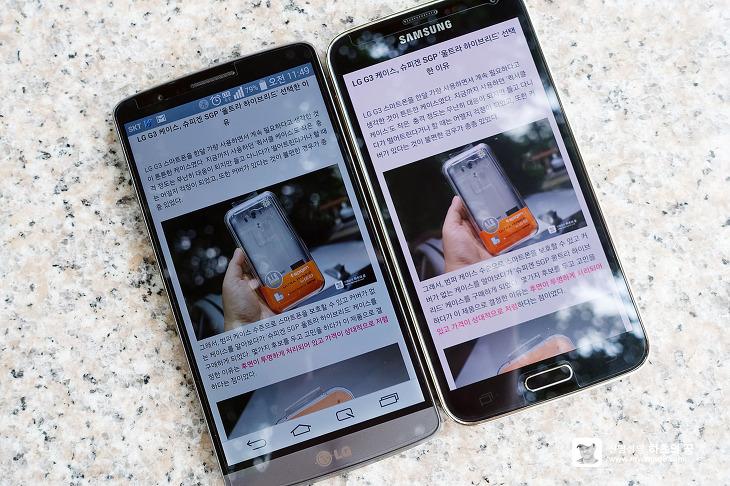 LG G3 vs 갤럭시S5 광대역 LTE-A