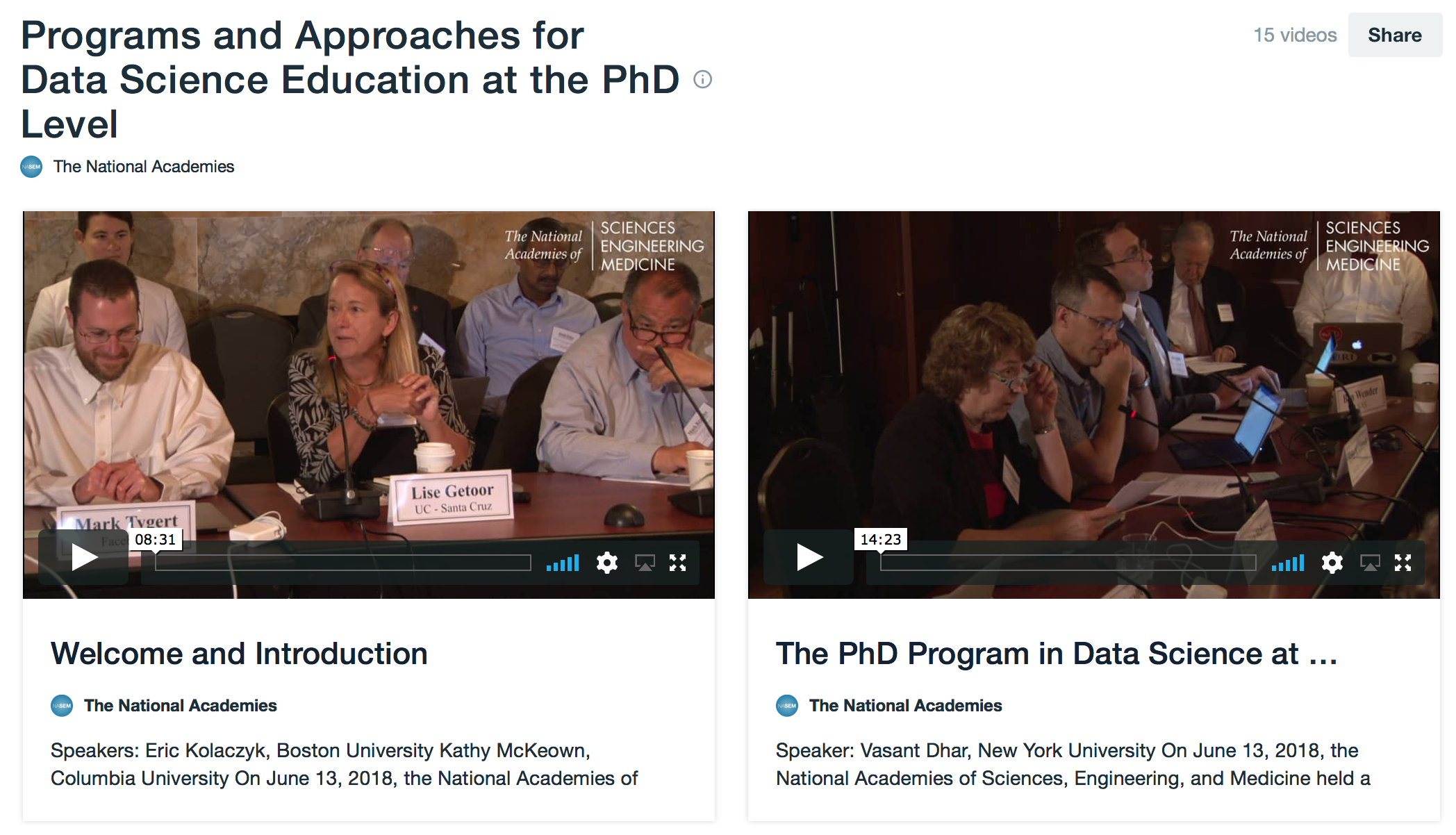 Programs and Approaches for Data Science Education at the PhD Level