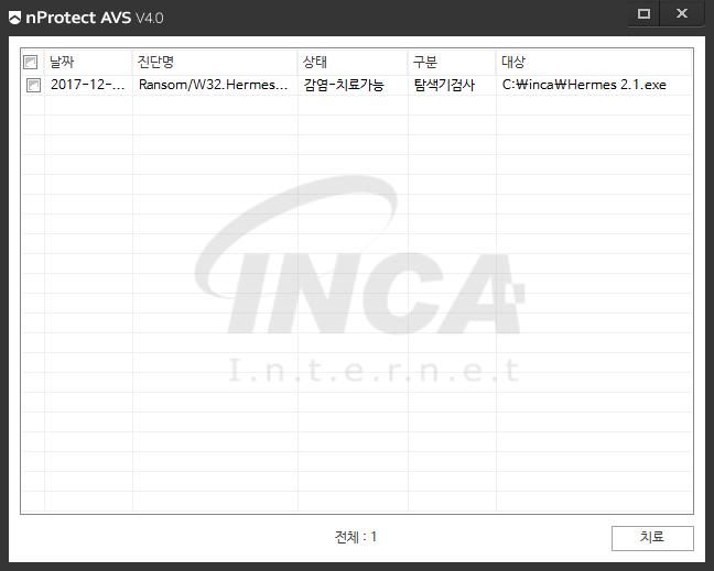 [그림5] nProtect Anti-Virus/Spyware V4.0 진단 및 치료 화면