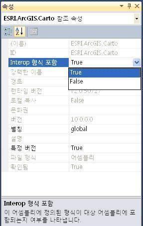 ArcGIS - Interop 형식 포함 FALSE