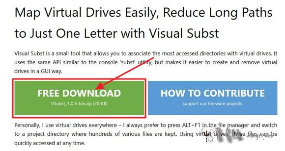 Visual Subst 다운로드 페이지
