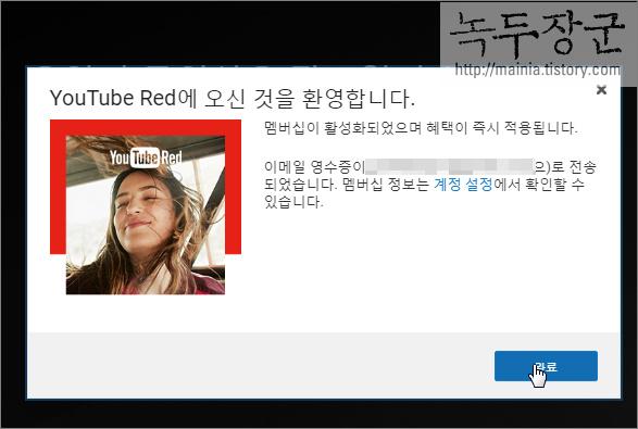유튜브 광고 없는 레드 결제 하는 방법
