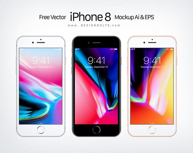 무료 애플 아이폰8 목업Mockup Ai EPS 파일