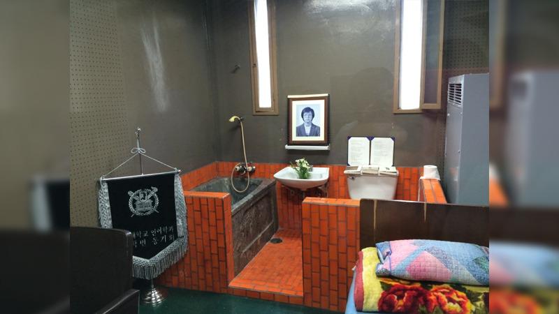 사진: 박종철 고문치사사건이 있었던 남영동 분실 509호. 지금은 기념관람이 이루어지고 있다.