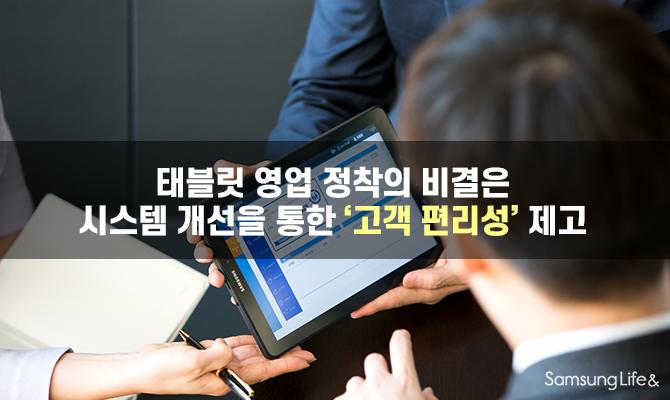 태블릿 영업 정착의 비결은 시스템 개선을 통한 '고객 편리성' 제고