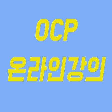 오라클OCP자격증 온라인강좌로 1
