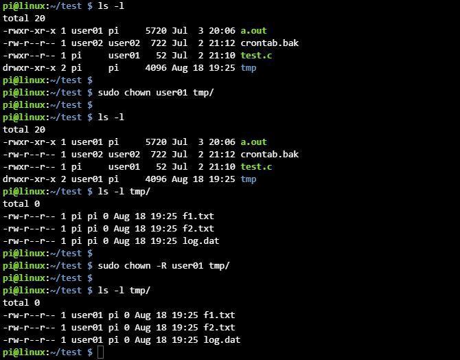 리눅스 chown 디렉토리 권한 변경