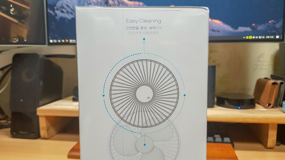오난 루메나 N9-FAN STAND 서큘레이터형 선풍기 내부 박스 측면 상단