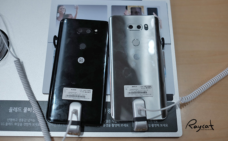LG V30 블랙과 클라우드 실버