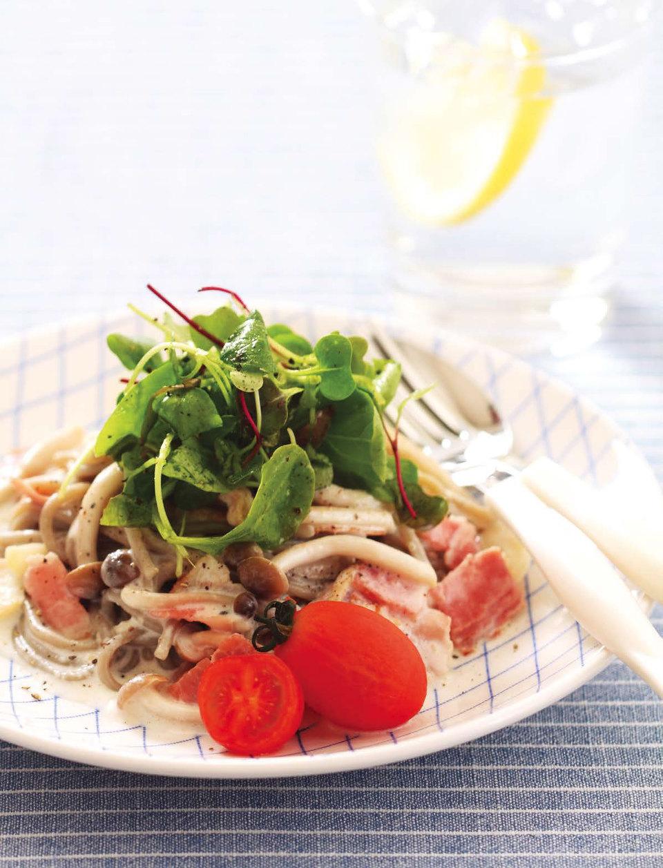 맛과 영양을 모두 만족시키는 제철요리-메밀크림파스타