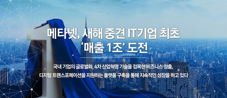 메타넷, 새해 중견 IT기업 최초 '매출 1조'..
